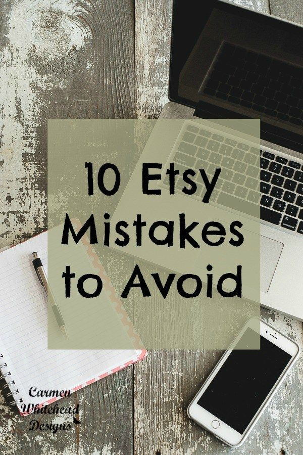 Here is a good read for my fellow Etsy shop owners. Carmen Whitehead is sharing 10 common mistakes sellers make with their Etsy shops, and tips to fix and avoid them. Carmen says: Having an Etsy sh…