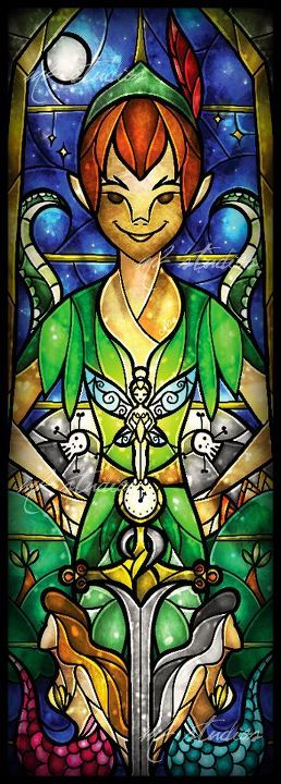 Peter Pan. THIS needs to be  a window in my house... I'd be the happiest person ever.