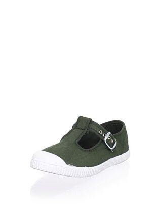 45% OFF Cienta Kid's T-Strap Sneaker (Green)