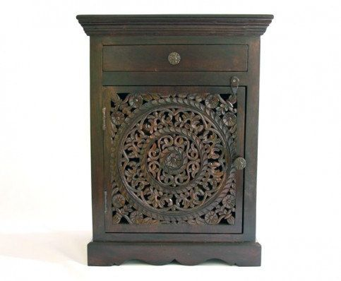 Free Shipping on this item Carved nightstand by clearpathimports