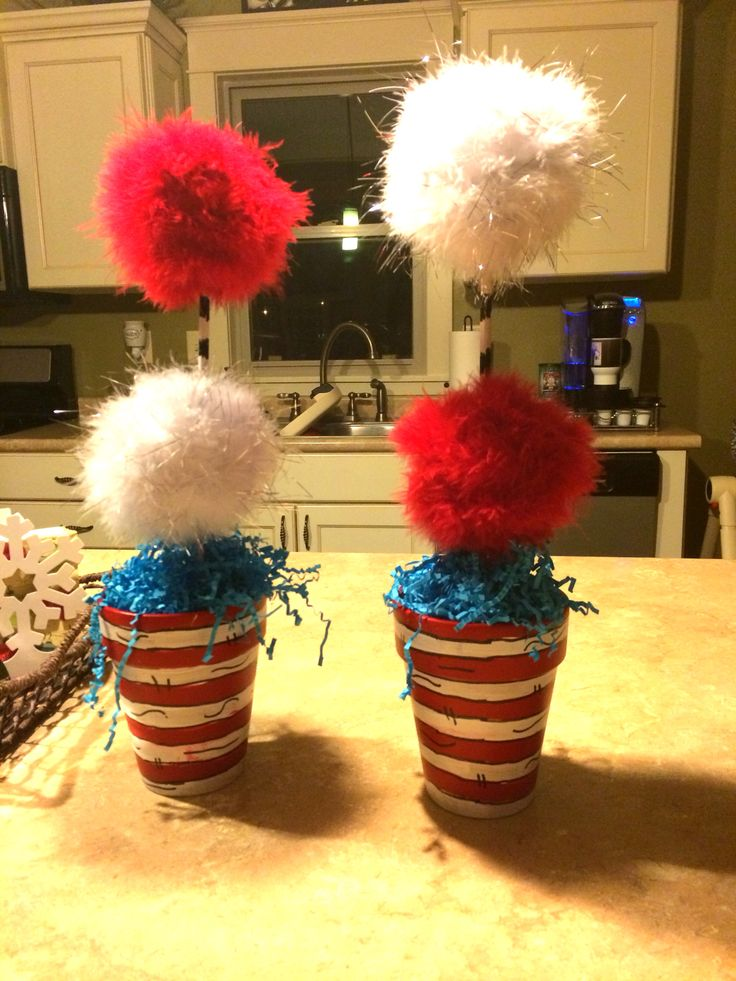 Dr Seuss baby shower centerpiece