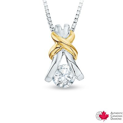 0.15 CT. Certified Canadian Diamond Solitaire Knot Pendant
