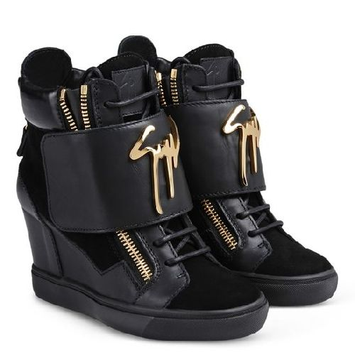 Giuseppe Zanotti Satin Wedge Sneakers cheap sale Cheapest outlet wide range of discount 2014 unisex Ax9hzCX