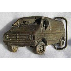 Vintage Chevy or Dodge Van Brass Belt Buckle