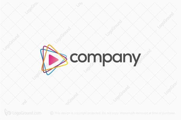 Logo for sale: Play Media Rainbow Logo