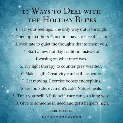 10 Ways to Deal with the Holiday Blues