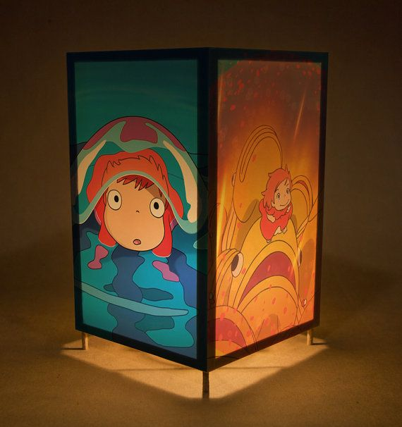 Ponyo nightlight wtih LED / lamp featuring Ponyo by LightGuild