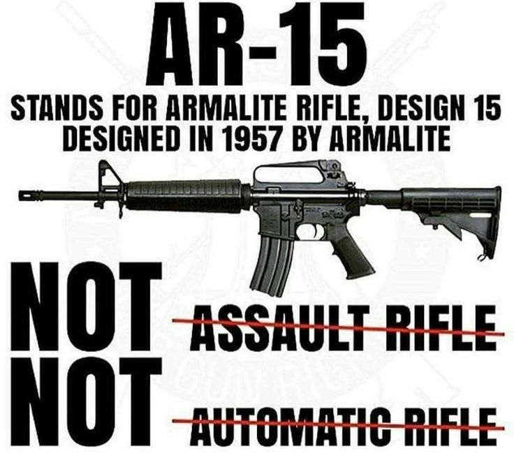 Now if more people could understand there isn't actually a firearm classified as an assault rifle I might actually take their arguments seriously.