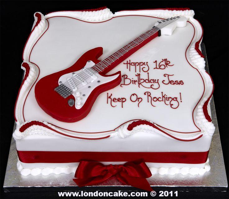 Birthday Cake Design Guitar : 1000+ ideas about Guitar Birthday Cakes on Pinterest ...