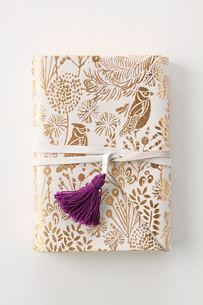 This one looks so pretty!: Crafts Ideas, Anthropology, Purple, Leather Journals, Notebooks, Gifts Wraps, Tassels, White Gold, Prospero Journals