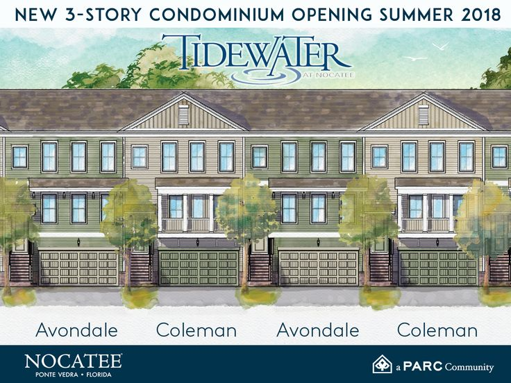 New construction in Tidewater at Nocatee! Check out Nocatee.com for the latest on Pulte Homes' new #condominium offerings!