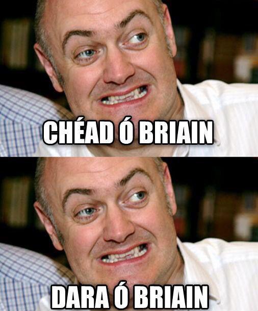 Chéad, dara = first, second