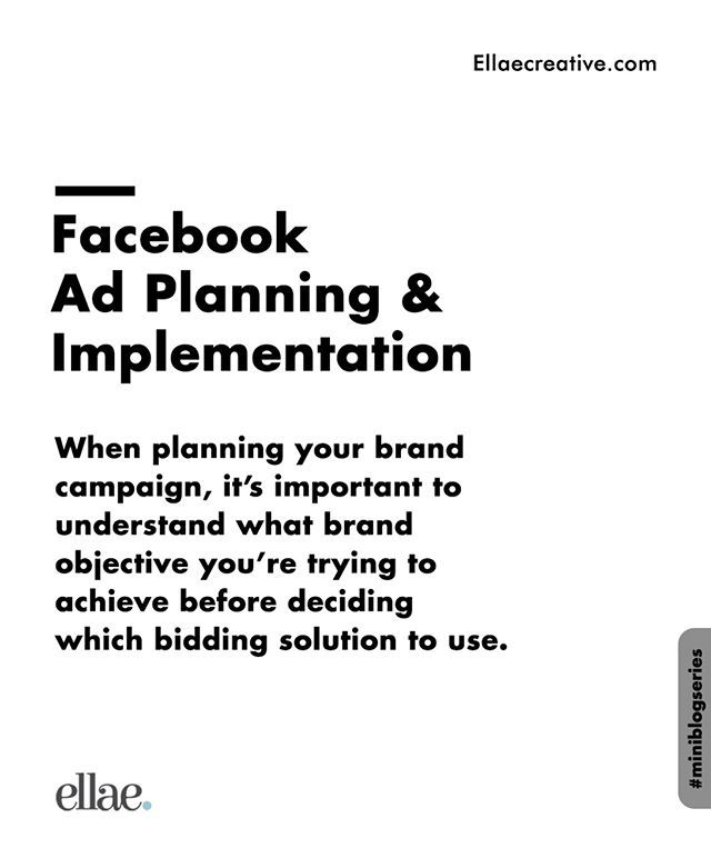 As you plan your campaign on Facebook and Instagram, ask yourself a few questions:  What are the business goals I'm trying to achieve? How do they map to my overall business objective? ___ #Ellae #Branding #Design #Designers #DigitalMarketing #Brand #Twitter #Facebook #Instagram #Igers #Social #Lagos #Nigeria #casestudy #design #brandidentity #packaging #branding #brandpositioning #FacebookCustomAudience by @ellaecreative. #logo #graphicdesign #brandidentity #brand #logodesigner #logos…