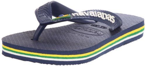 Havaianas Brasil Logo-Kids Flip Flop (Toddler/Little Kid) Havaianas. $16.93. Butter-Soft, Bouncy, Flexible and Durable - Rubber Sole. Rubber sole. rubber. Sizing:  BR 23/24 (US 8C), BR 25/26 (US 9/10C), BR 27/28 (US 11/12C), BR 29/30 (US 13C), BR 31/32 (US 1/2C), BR 33/34 (US 3/4). Made in Brazil. US Size stamp on shoe is incorrect. The tag will have the accurate US size conversion.