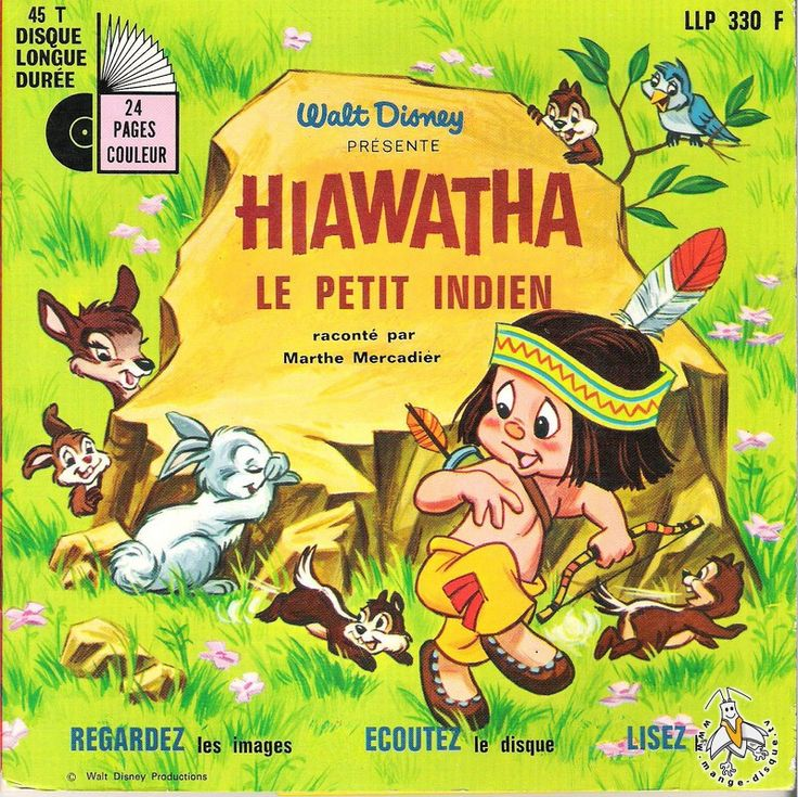 Hiawatha le petit indien de Walt Disney