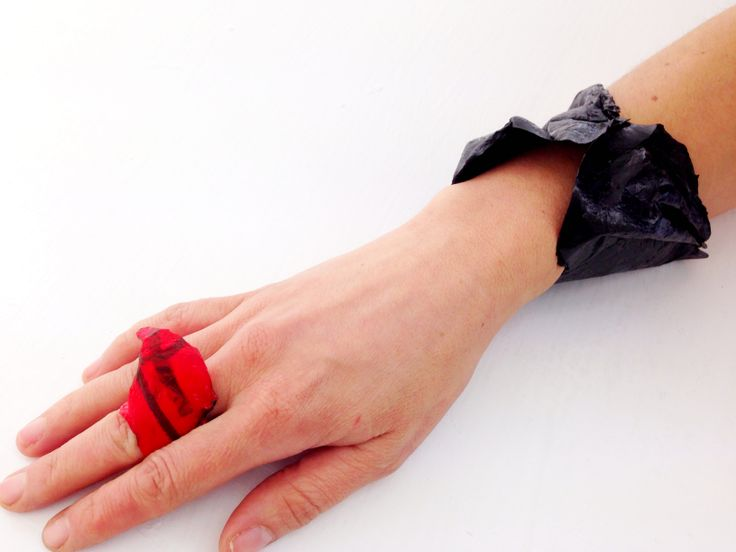 plastic bag ring and necklace