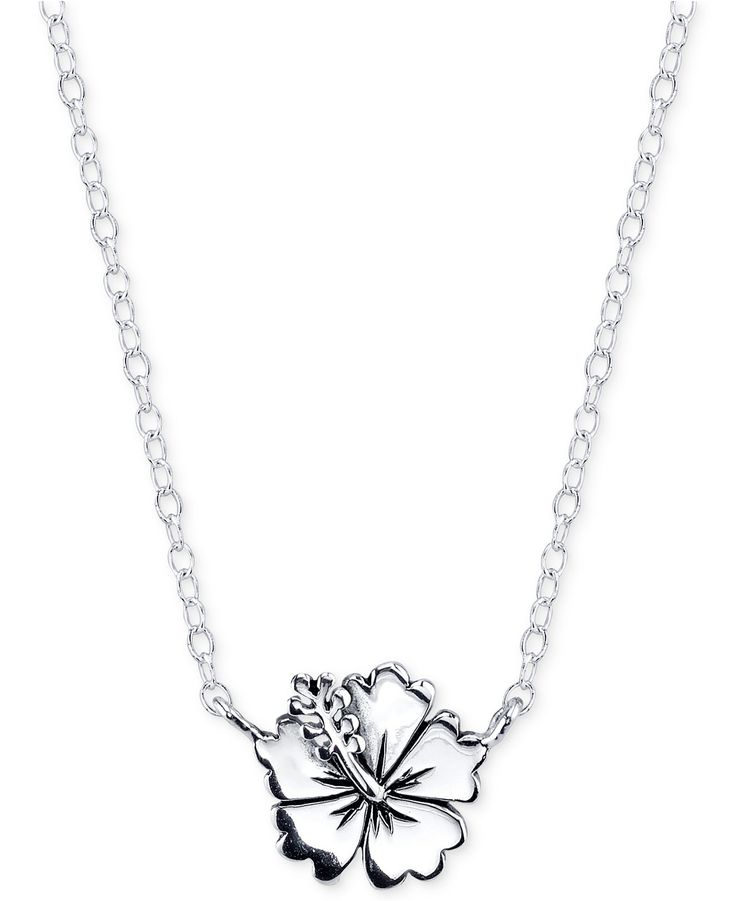 Lilo & Stitch Flower Necklace in Sterling Silver - 2-Day Specials - Jewelry & Watches - Macy's