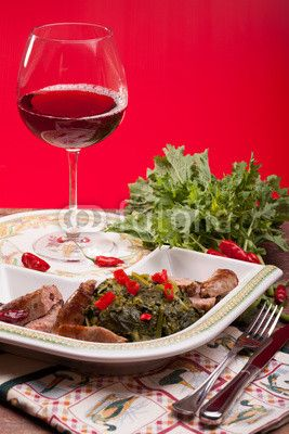 Stock photo: Broccoli Rabe With Sausages  From $1.50