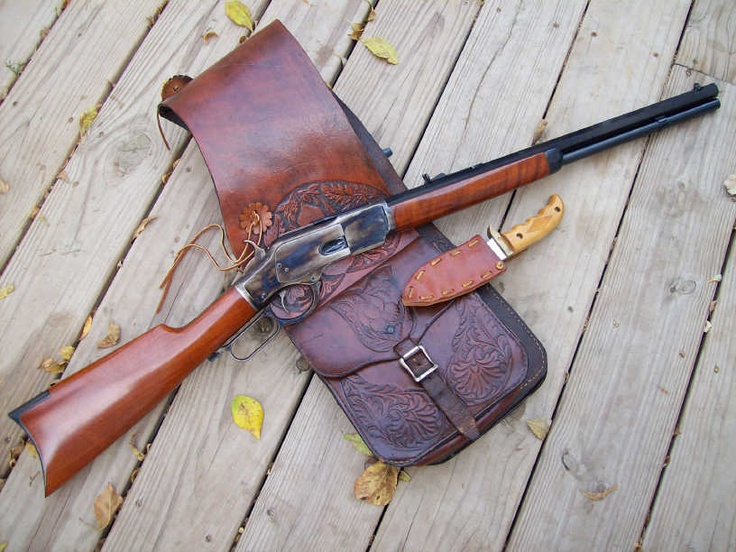 1873 Winchester rifle by Uberti