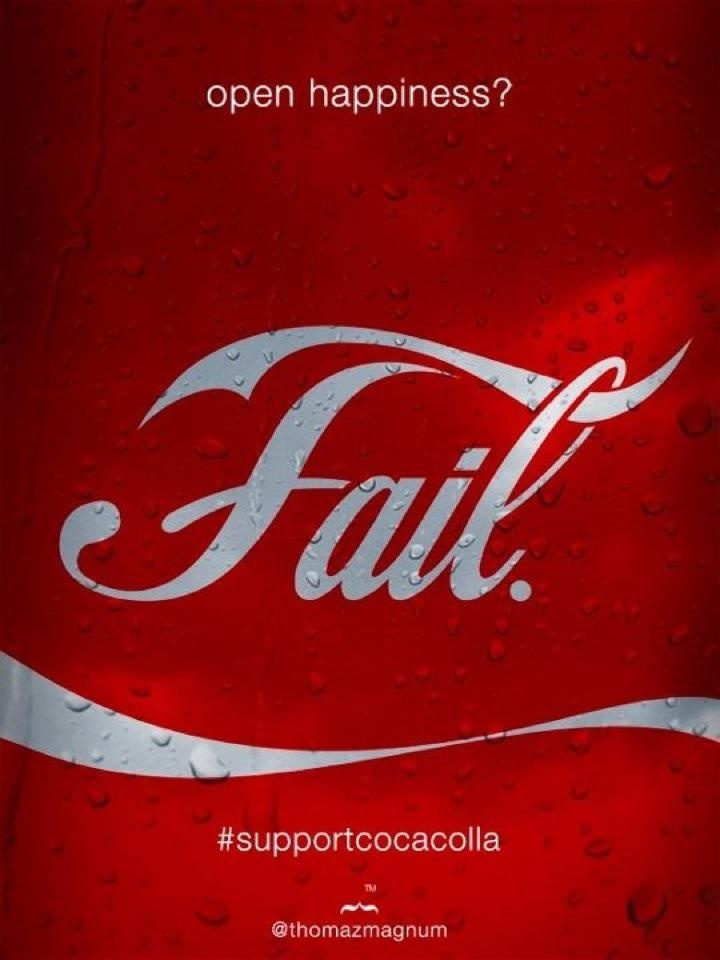 FAIL by Coca cola! They can't close @bevicocacolla so #supportcocacolla
