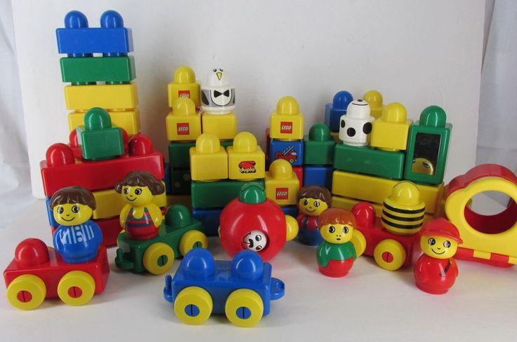 Lego Primo Big Building Blocks Ball Figures 80+ Pieces Vehicles  #LEGO