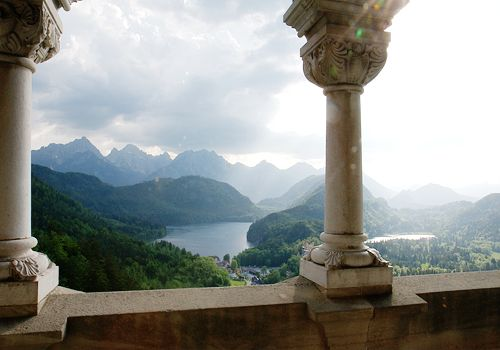 The view from Neuschwanstein Castle Schwangau, Germany. ~To the Castle!~