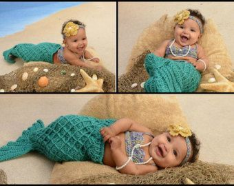little mermaid cocoon knit for baby | Popular items for baby mermaid costume
