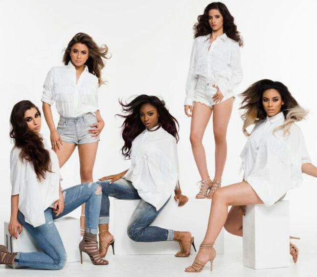 Fifth harmony during a photoshoot for their new single # sledgehammer !!!! You should listen to it right now on youtube