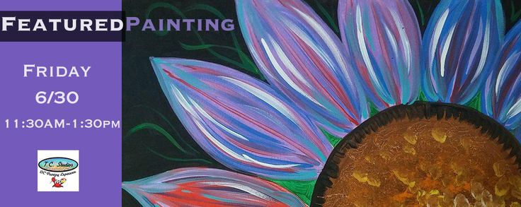 This Friday stop in for our featured painting experience, Colorful flower from 11:30am-1:30pm!   Get your tickets today : http://www.tcstudios.org/events/2017/6/30/experiences-tbd