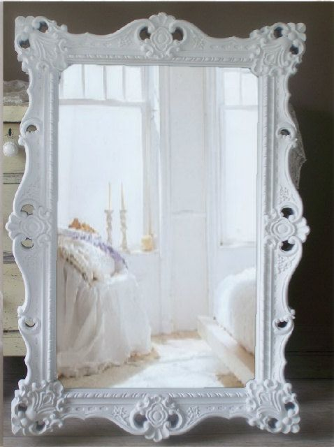 Items Similar To B L A C K Baroque Mirror Extra Large Shabby Chic Vintage On Etsy