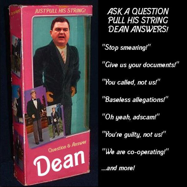 Dean Del Mastro doll: ask the Tory MP a question & pull the string to get an answer | #robocalls #cdnpoli