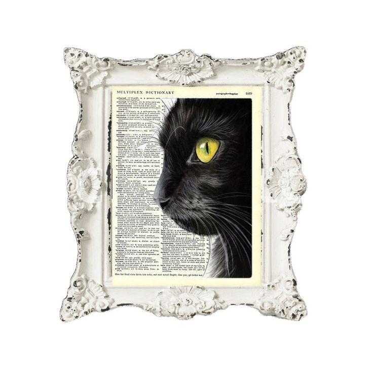 Black cat by secondprints on Etsy