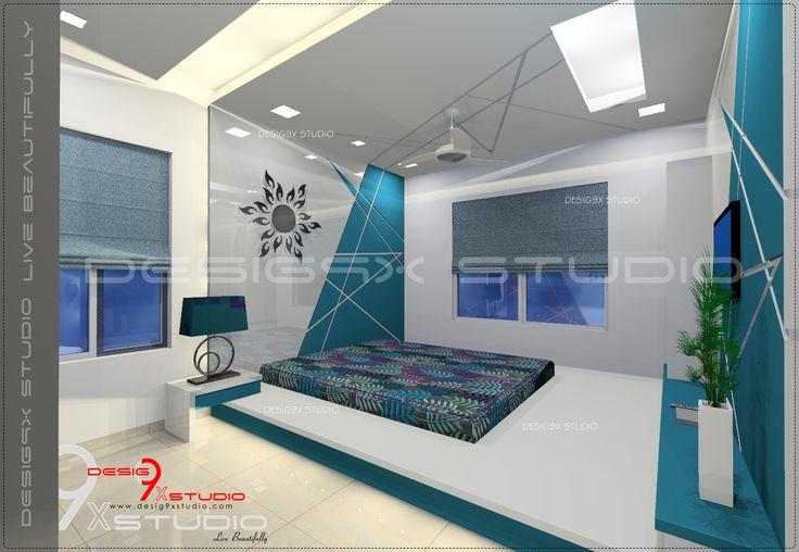Bedroom abstract line artwork