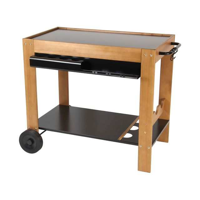 excellent desserte bois et mtal sylvana castorama pour poser plancha with castorama etagere metal. Black Bedroom Furniture Sets. Home Design Ideas