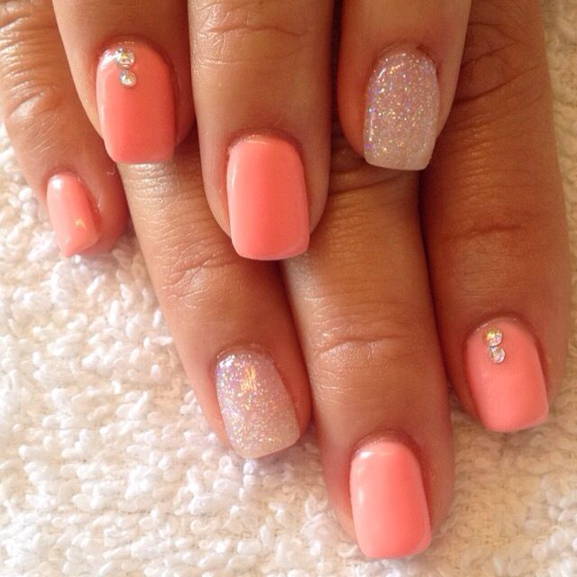Best 25+ Coral acrylic nails ideas on Pinterest   Nails ...
