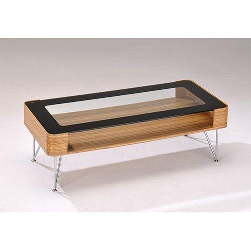 Zine Ply Coffee Table - Clear & Black Glass - Medium - Milan Direct