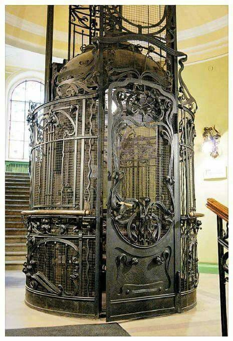 Steam-Powered Elevator in St. Petersburg, Russia | Art Nouveau | via Unique Intuitions