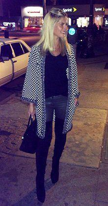 Lala Rudge in Chanel cardigan