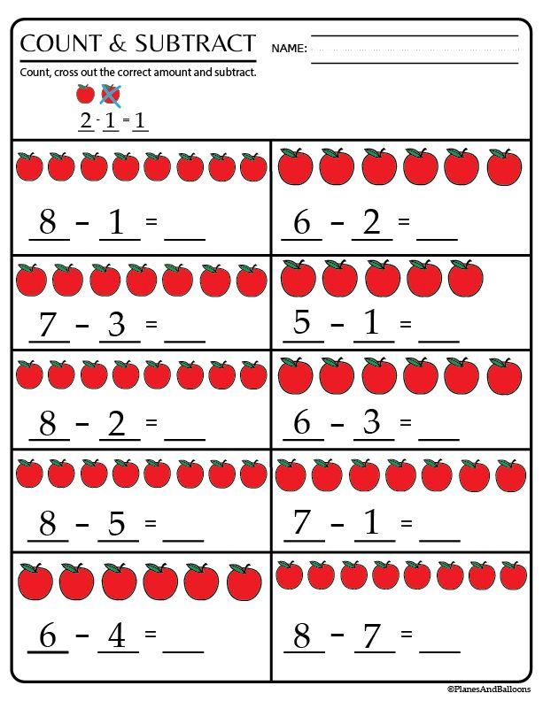 Kindergarten Math Worksheets Pdf Subtraction In 2020 With Images