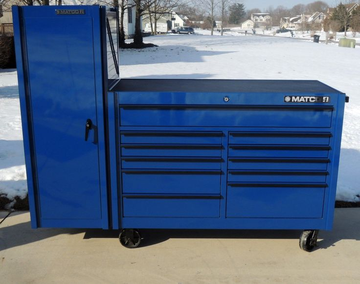Matco 4S Blue Double Bank Tool Box   Tools   Pinterest   Box and ...