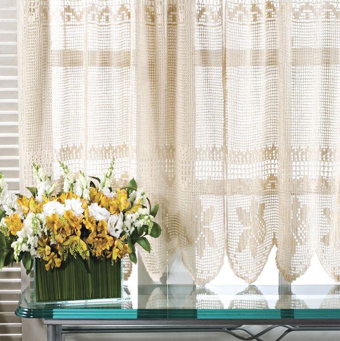 51 melhores imagens de cortinas e bandos de croche no - Bandos para cortinas ...