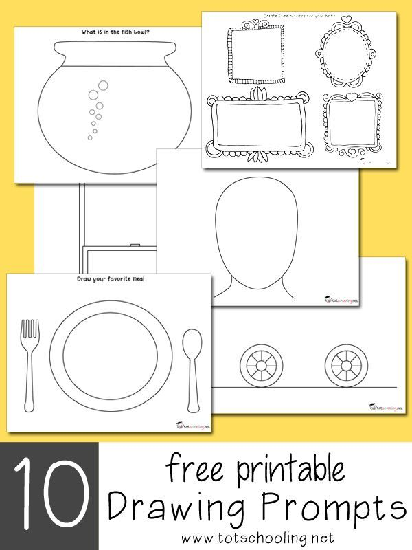 10 Free Printable Drawing Prompts for center days