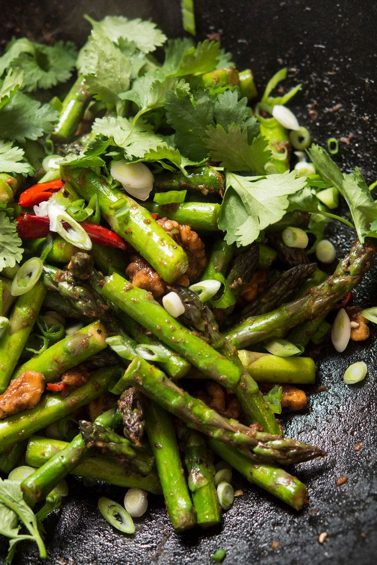Not all asparagus dishes are delicate and subtle. Try this stir-fry to see how well the sweetness of asparagus and spicy bold flavors go together. (Photo: Evan Sung for The New York Times)