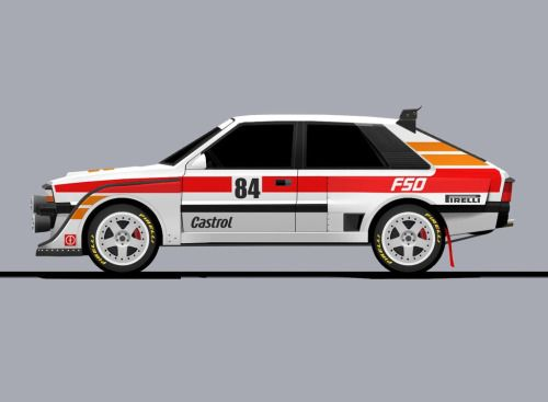 My concept of GROUP B FSO Polonez.