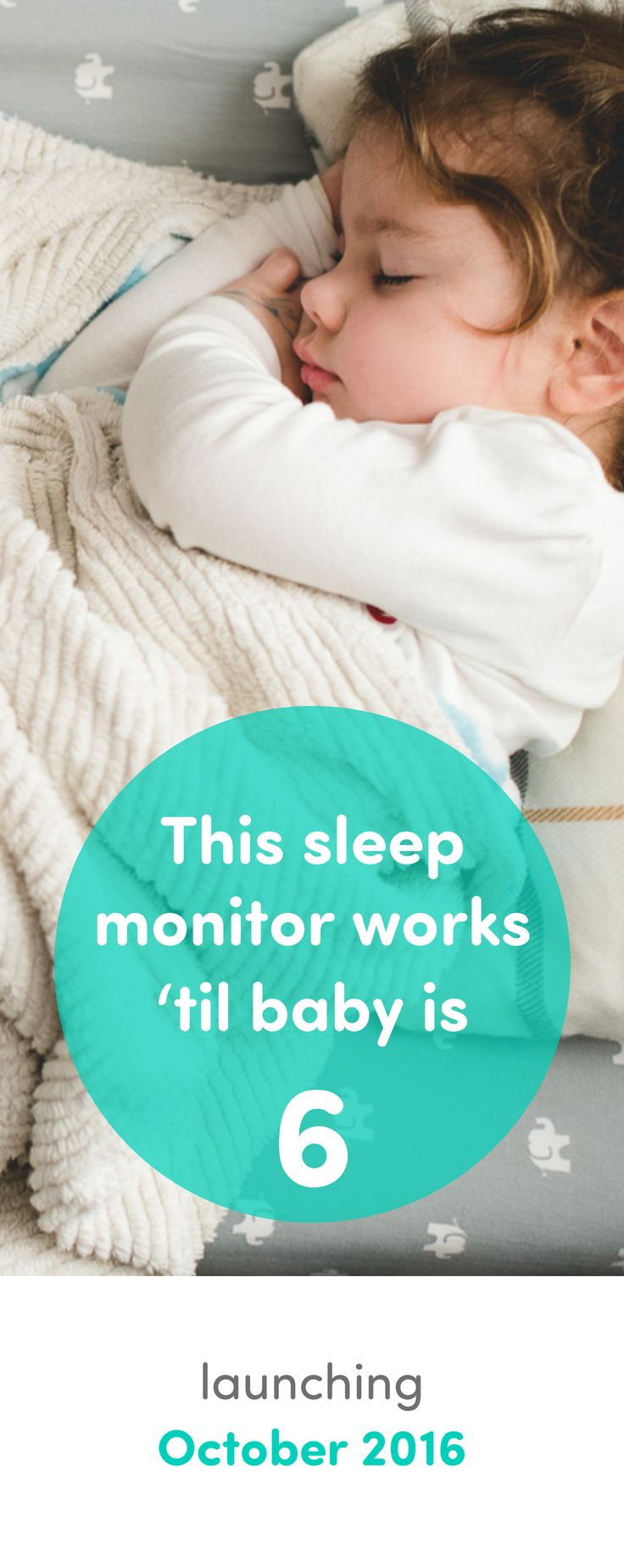 Best. Monitor. Ever. It tracks sleeping AND breathing. And all without wearables. This is a parenting game changer!