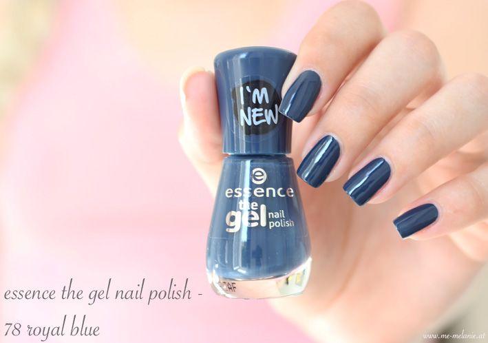 essence the gel nail polish - 78 royal blue