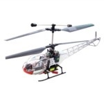 17-Inch Walkera 4-CH Full Metal Lama Electric R/C Helicopter with Built-in GYRO+2 Motors