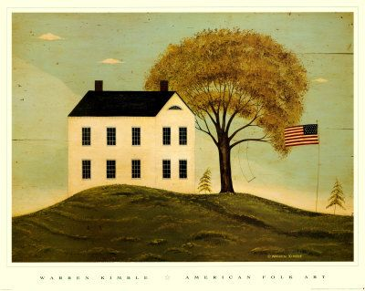 house with flag-warren kimball