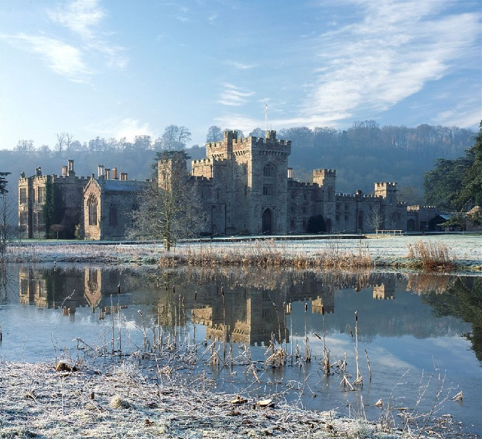 Hampton Court, Herefordshire, England in Winter. What a beautiful wedding venue.