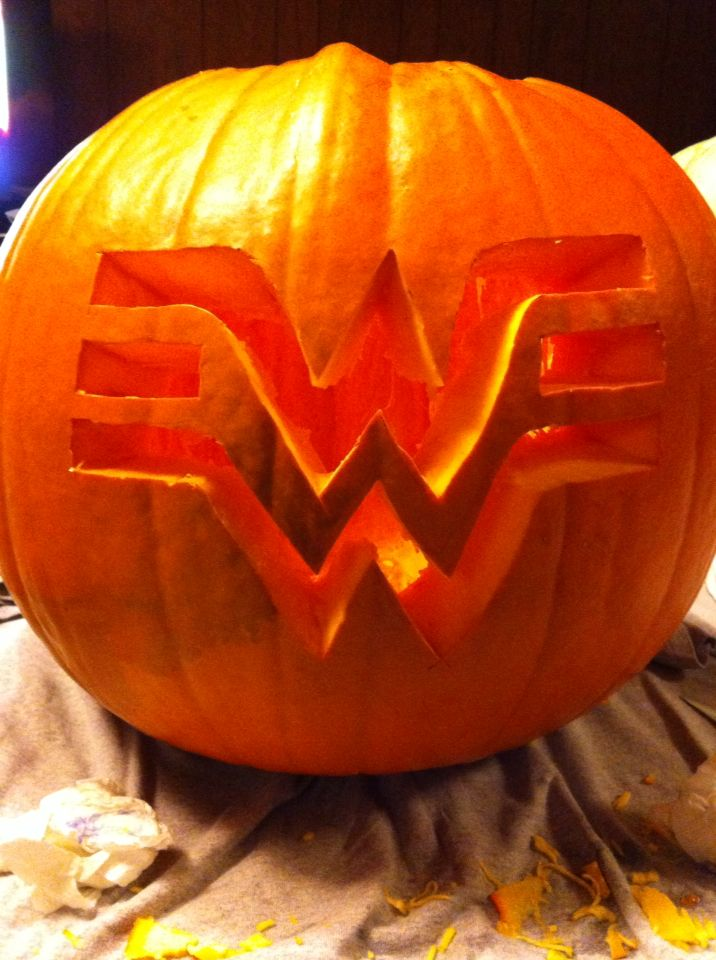 My Wonder Woman Logo Pumpkin